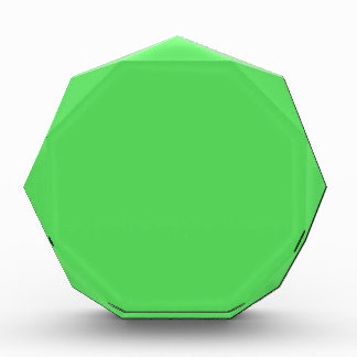 IT CAME FROM OUTER SPACE: ALIEN GREEN! solid color Acrylic Award