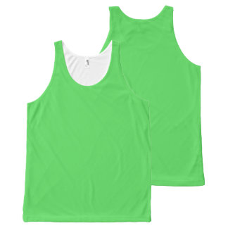 IT CAME FROM OUTER SPACE: ALIEN GREEN! solid color All-Over Print Tank Top