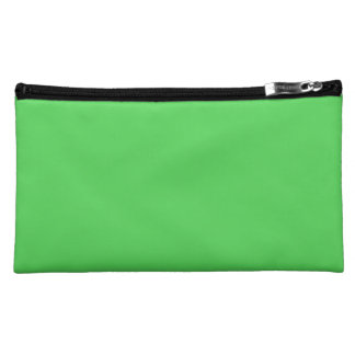 IT CAME FROM OUTER SPACE: ALIEN GREEN! solid color Cosmetics Bags