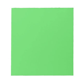 IT CAME FROM OUTER SPACE: ALIEN GREEN! solid color Notepad