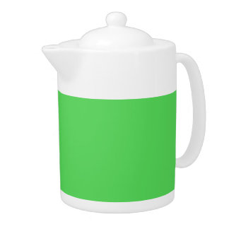 IT CAME FROM OUTER SPACE: ALIEN GREEN! solid color Teapot