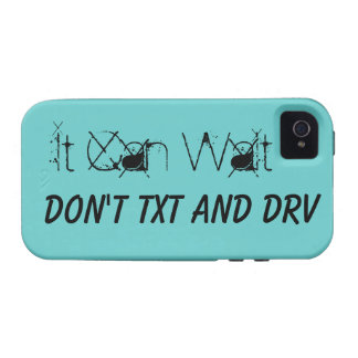 It Can Wait Don't Text And Drive iPhone4 Case Mate Case-Mate iPhone 4 Covers
