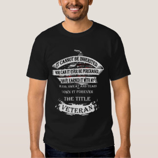 It cannot be inherited, the title Veteran Shirt