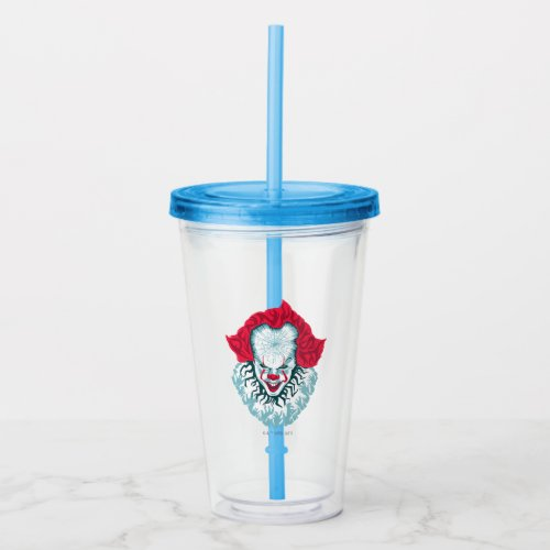 It Chapter 2   Pennywise Acrylic Tumbler