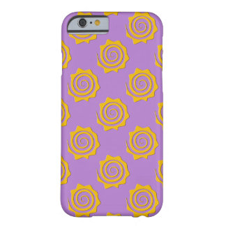 It cheers yellow sun in spiral on violet bottom barely there iPhone 6 case