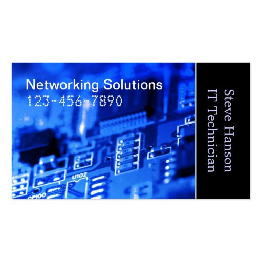IT Computer Programmer Technician Business Card