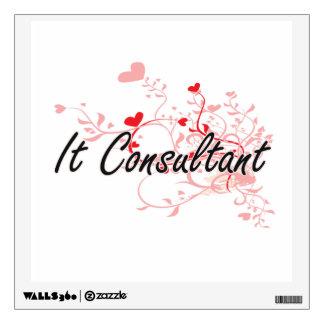 It Consultant Artistic Job Design with Hearts Wall Decor