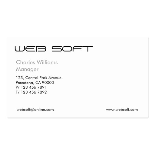 IT Consultant - Business Cards (back side)