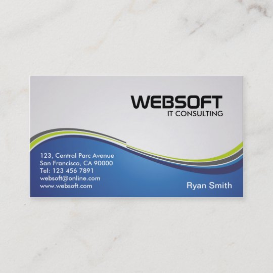 It Consulting Business Cards Zazzle