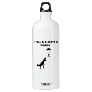 It Could Always Be Worse Aluminum Water Bottle