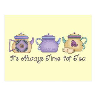 It' de s tiempo siempre para el té tarjetas postales