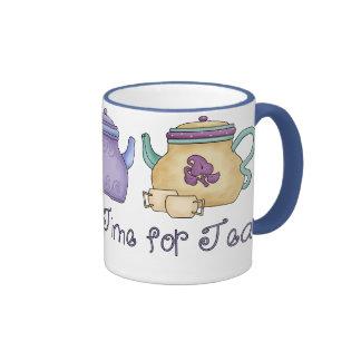 It' de s tiempo siempre para el té taza a dos colores
