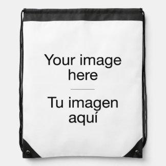 It designs knapsack in customized target drawstring bag