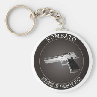IT DISARMS OF FIREARM BASIC ROUND BUTTON KEYCHAIN