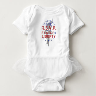 It Does Not Say RSVP on the Statue of Liberty Baby Bodysuit