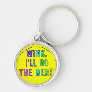 It Don't Hurt to Flirt! Silver-Colored Round Keychain