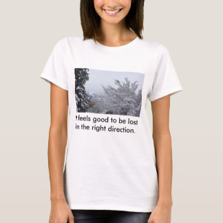 It feels good to be lost in the right direction T-Shirt