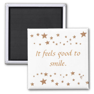 It feels good to smile lively gold stars magnets