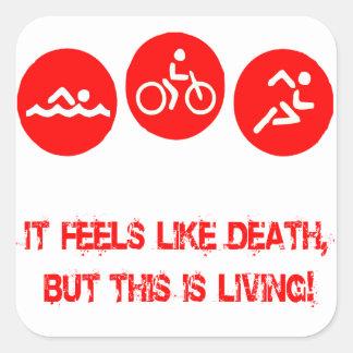 It feels like death - Triathlon Stickers