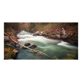 It flows statically photo card template