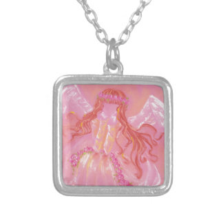 It foretells in rose silver plated necklace