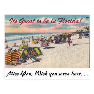 ¡It grande estar en la Florida! Postal