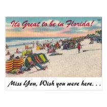 It' great to be in Florida! Postcard