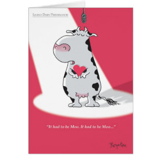 It Had To Be Moo Valentines By Boynton Card at Zazzle