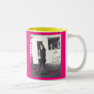 IT HAPPENED AT THE DOCK, THE BOOK_MUG_hot_pink/yel Two-Tone Coffee Mug