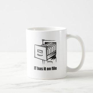 IT Has it On File Coffee Mug