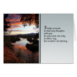 It helps so much...Love and friendship Greeting Card