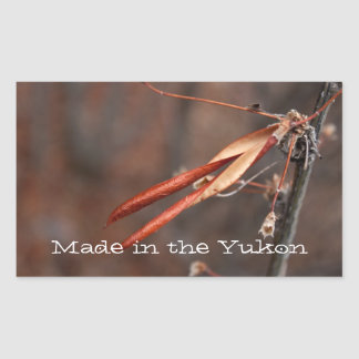 It Hurts to be Beautiful; Yukon Territory Souvenir Rectangle Stickers