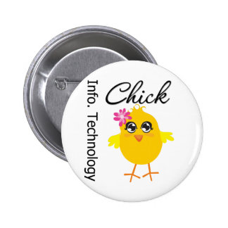 IT (Information Technology) Chick Pinback Buttons