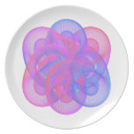 It is a beautiful geometric figure. dinner plate