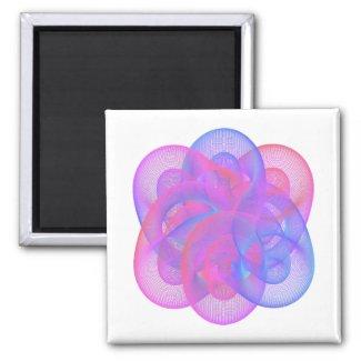 It is a beautiful geometric figure. magnet