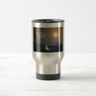 """""""It is a long lonely road """", grey hound dog Coffee Mugs"""