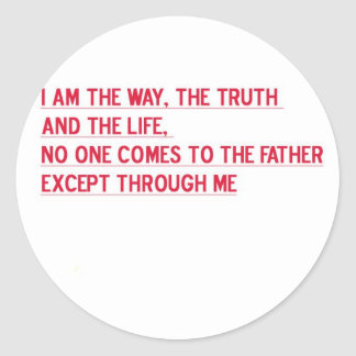 It is a neat gift. And a such true verse. Classic Round Sticker