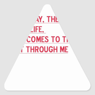 It is a neat gift. And a such true verse. Triangle Sticker
