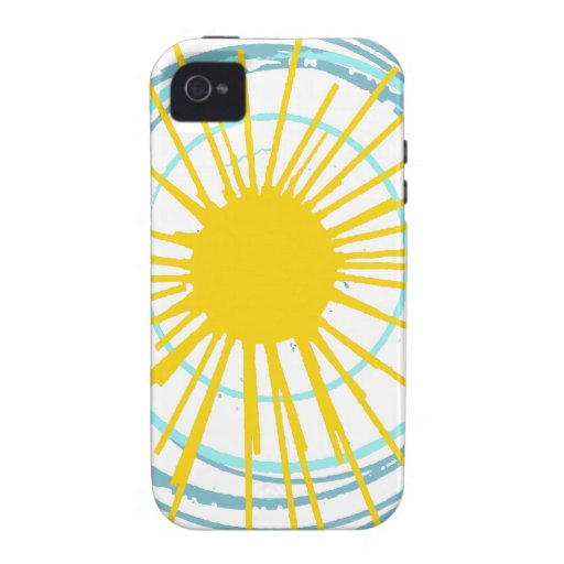 It Is a New Day Sun with Aqua Circles iPhone 4/4S Cases