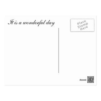 It is a wonderful day - postcard tarjeta postal