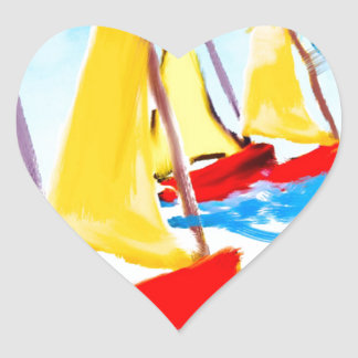 It is always good to remember a boat trip heart sticker