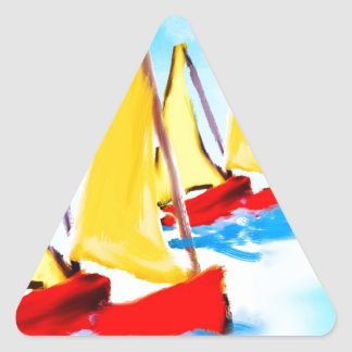 It is always good to remember a boat trip triangle sticker