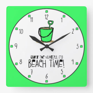 It is Beach Time Square Wallclock