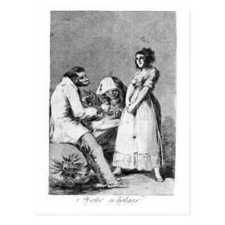It is better to be idle by Francisco Goya Postcard