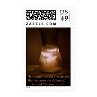 """""""It is better to light one candle"""" stamp"""