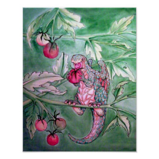 It Is Delicious (A Dragon Eats A Cherry Tomato) Poster