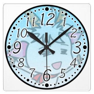 It is dense the goat wall clock (quadrangular) of