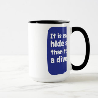 It is easier to hide a body mug