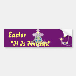"""""""It Is Finished""""-Customize Bumper Sticker"""