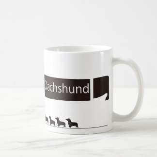 It is funny the goods of the miniature dachshund classic white coffee mug